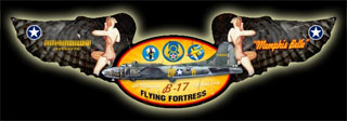 Memphis Belle FE001- Vintage Tin Sign - Shaped, PTS