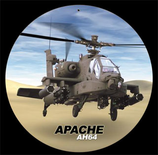 Apache V436- Vintage Tin Sign - Round, PTS
