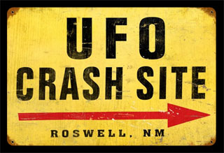 UFO Crash V864- Vintage Tin Sign, PTS