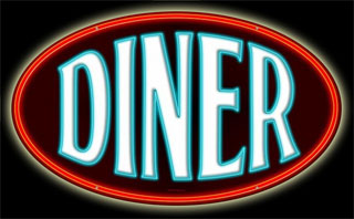 Diner RPC130- Vintage Tin Sign - Round, PTS