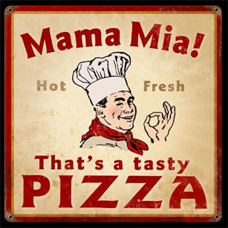 Mama Mia Pizza V929- Vintage Tin Sign, PTS