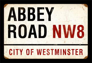 Abbey Road PTS087- Vintage Tin Sign, PTS