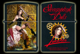 Steampunk Doll - Zippo Lighter, Lorenzo Sperlonga