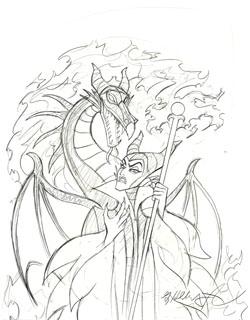 Maleficent Sketch Fantasy Spiderwebart Gallery