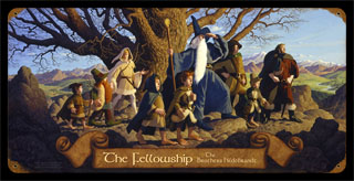 The Fellowship - Vintage Tin Sign, Brothers Hildebrandt