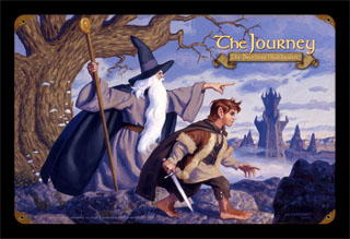 The Journey - Gandalf & Frodo - Vintage Tin Sign, Brothers Hildebrandt