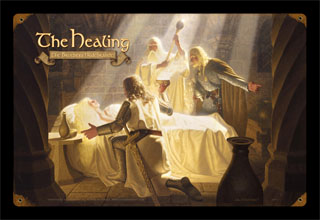 The Healing of EOWYN - Vintage Tin Sign, Brothers Hildebrandt