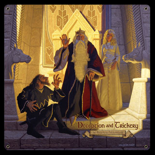 Deception and Trickery - Theodin & Wormtongue - Vintage Tin Sign, Brothers Hildebrandt