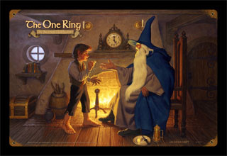 The One Ring - GANDALF - Vintage Tin Sign, Brothers Hildebrandt
