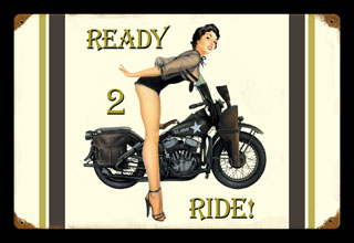Ready to Ride V033- Vintage Tin Sign, PTS