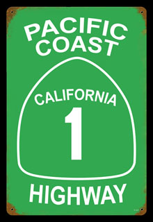 Pacific Coast Highway V167- Vintage Tin Sign, PTS