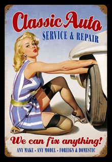 Classic Auto V256- Vintage Tin Sign, PTS