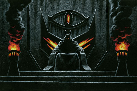 Sauron, the Dark Lord Black Board - Giclee, Greg Hildebrandt