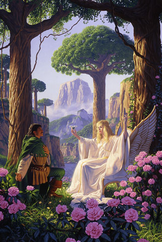 The Gift of Galadriel - Giclee, Greg Hildebrandt