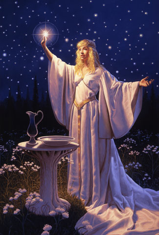 The Ring of Galadriel - Giclee, Greg Hildebrandt