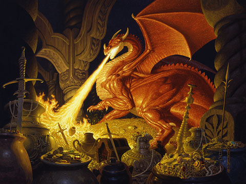 Smaug - Giclee, Brothers Hildebrandt