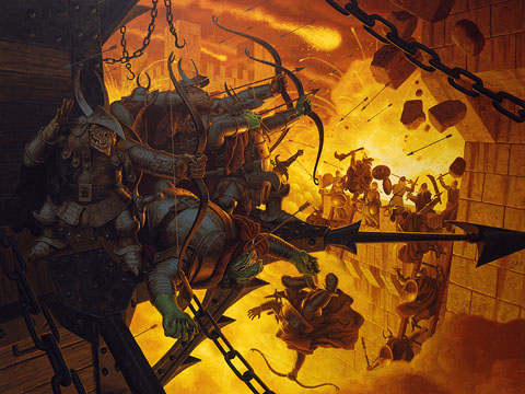 The Siege of Minas Tirith - Giclee, Brothers Hildebrandt