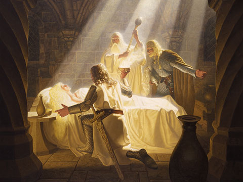 The Healing of Eowyn - Giclee, Brothers Hildebrandt