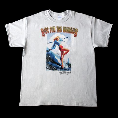 Made in the USA - Ride for the Warrior t-shirt - large, Greg Hildebrandt