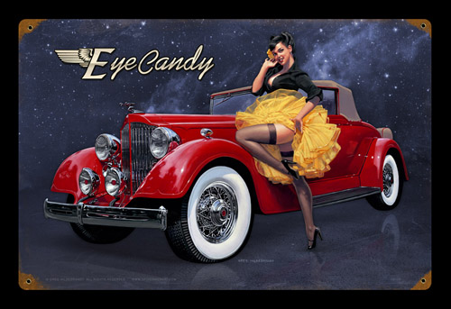 Eye Candy - Vintage Tin Sign, Greg Hildebrandt