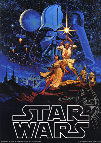 Star Wars Limited Edition Poster - REMARQUED, Greg Hildebrandt