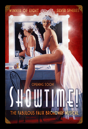 Showtime - Vintage Tin Sign, Greg Hildebrandt