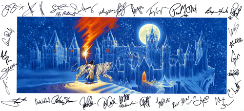 2006 TSO Program Cover - Canvas Print - SIGNED BY THE BAND MEMBERS and PAUL O