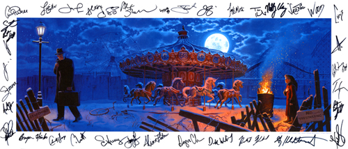 2008 TSO Program Cover - Canvas Print - SIGNED BY THE BAND MEMBERS and PAUL O