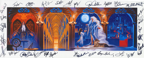2007 TSO Program Cover - Canvas Print - SIGNED BY THE BAND MEMBERS!, Greg Hildebrandt