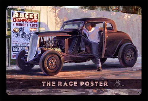 The Race Poster - Vintage Tin Sign - Large, Tom Fritz