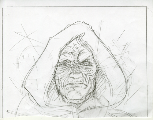 Star Wars - Marvel Cover - Sketch #12, Greg Hildebrandt