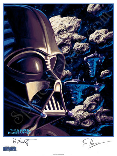 Vader & Asteroids - SIGNED BY GREG AND TIM, Brothers Hildebrandt