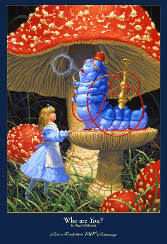 Who are YOU? - 150th Anniversary Alice in Wonderland Print, Greg Hildebrandt
