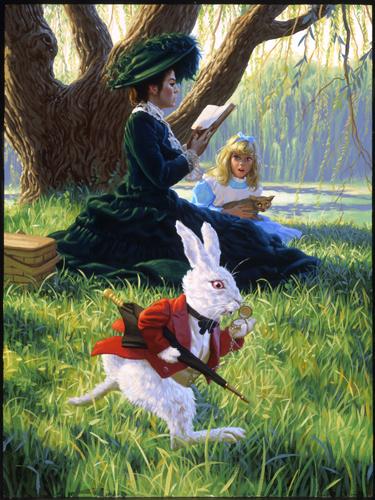 Alice In Wonderland Rabbit Running