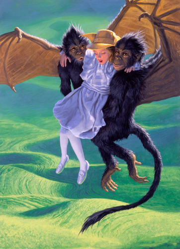 Winged Monkeys Carry Dorothy To Oz Classics