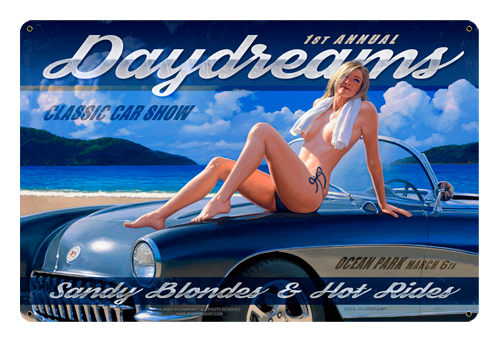 Daydreams - Tin Sign, Greg Hildebrandt