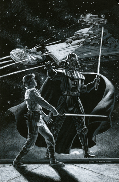 Star Wars - Marvel Cover #1 - Black Board, Greg Hildebrandt