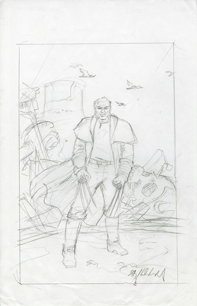 Marvel - Old Man Logan - Sketch #5, Greg Hildebrandt
