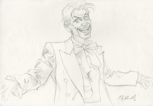 Mad Love - the Joker - Final Sketch, Greg Hildebrandt