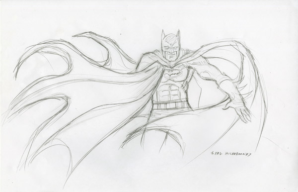 Batman - Sketch #3, Greg Hildebrandt