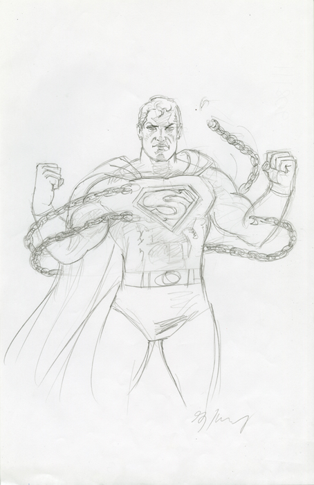 Superman Unchained-Sketch #1, Greg Hildebrandt