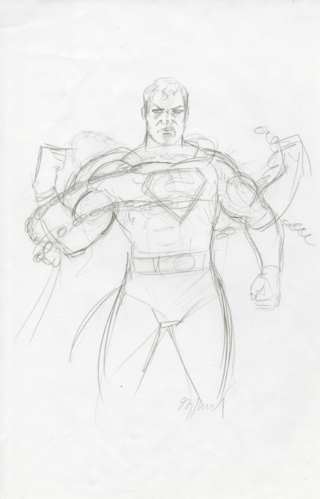 Superman Unchained - Sketch #2, Greg Hildebrandt