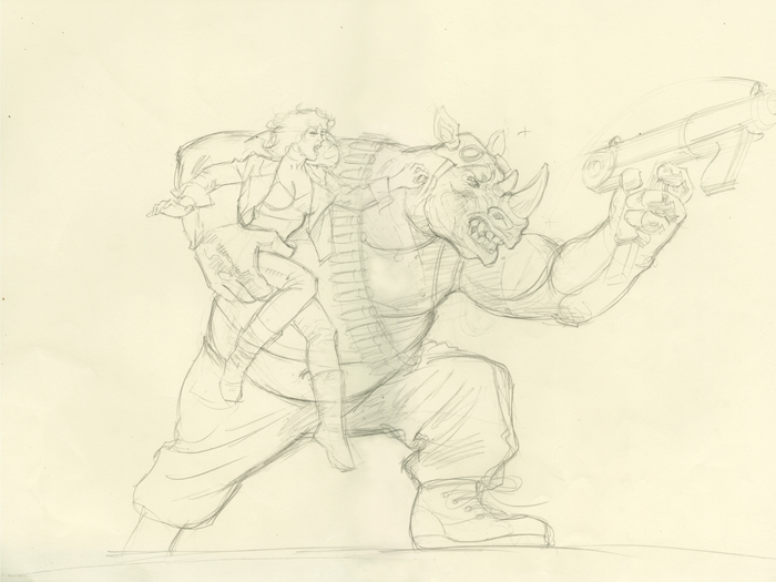 Bebop and Rocksteady-Rough #6, Greg Hildebrandt