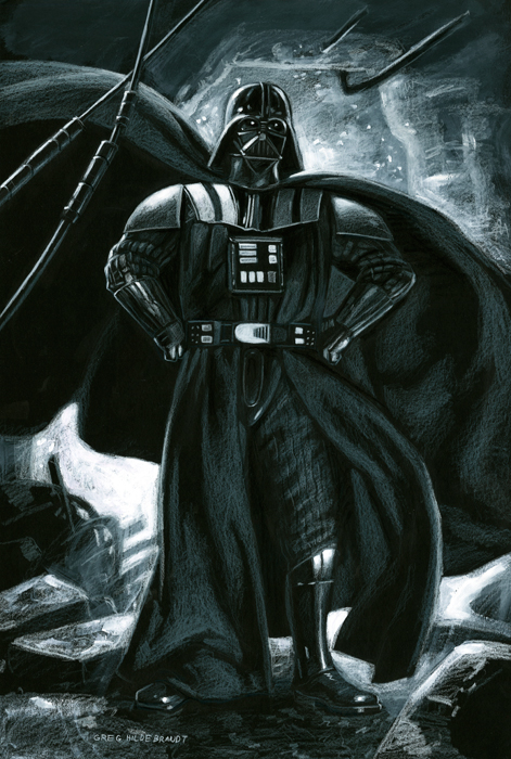 Darth Vader - Black Board, Greg Hildebrandt