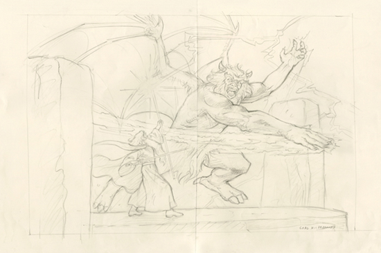 Battle of the Peak - Final Sketch, Greg Hildebrandt