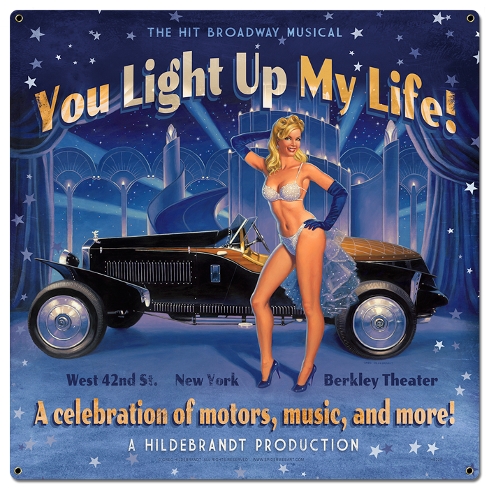 You Light Up My Life - Vintage Tin Sign , Greg Hildebrandt