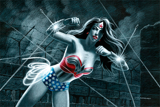Wonder Woman - Black Board, Greg Hildebrandt