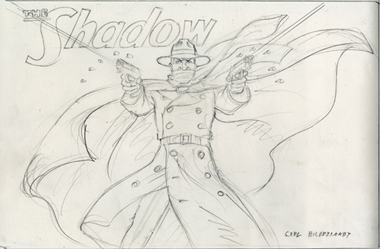The Shadow - Blackboard concept, Greg Hildebrandt