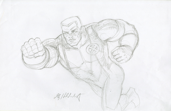 Colossus - Sketch #1, Greg Hildebrandt