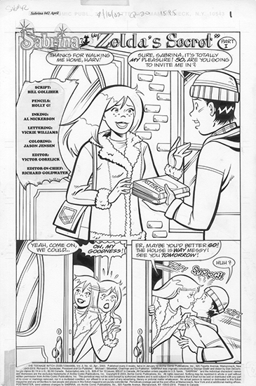 Sabrina #42 Pg1, Holly Golightly